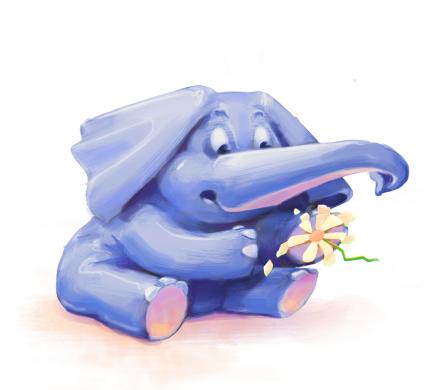 Oblikovanje karakterja Slončica