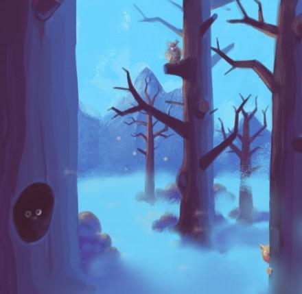 Nekega zimskega dne / 360 stopinjska ilustracija