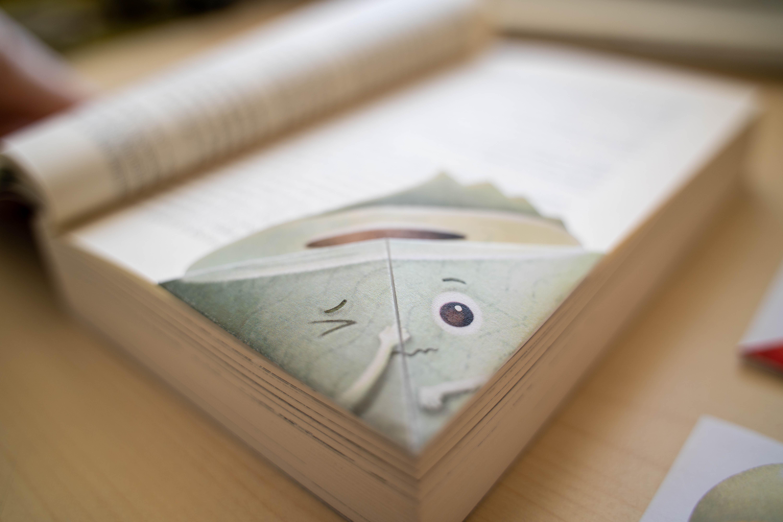corner bookmark toilet paper